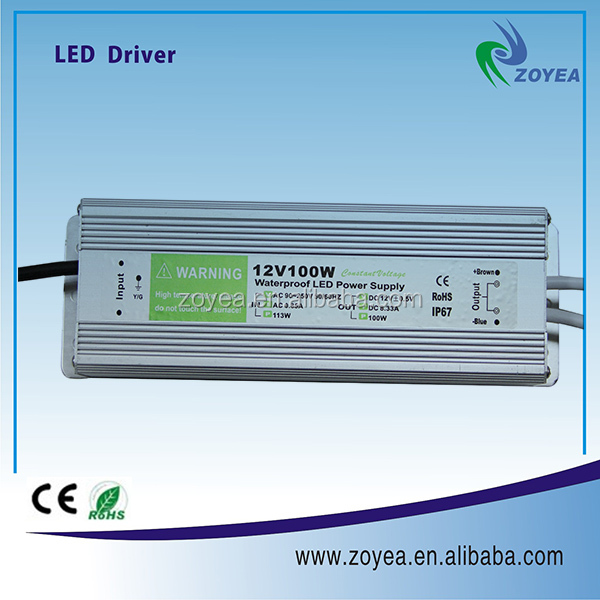 100w AC-DC switching power supply electronic transformer with dimmer LED driver