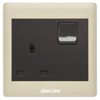 BS three pins socket with switch