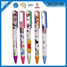 Promotion Floater Liquid Ball Pen , Advertising Liquid Metal Pens With Logo Printing
