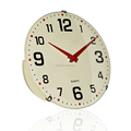 Dome glass plastic back round office wall clocks