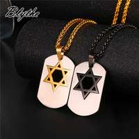 Wholesale High Quality Stainless Steel Star of David Dog Tag Pendant