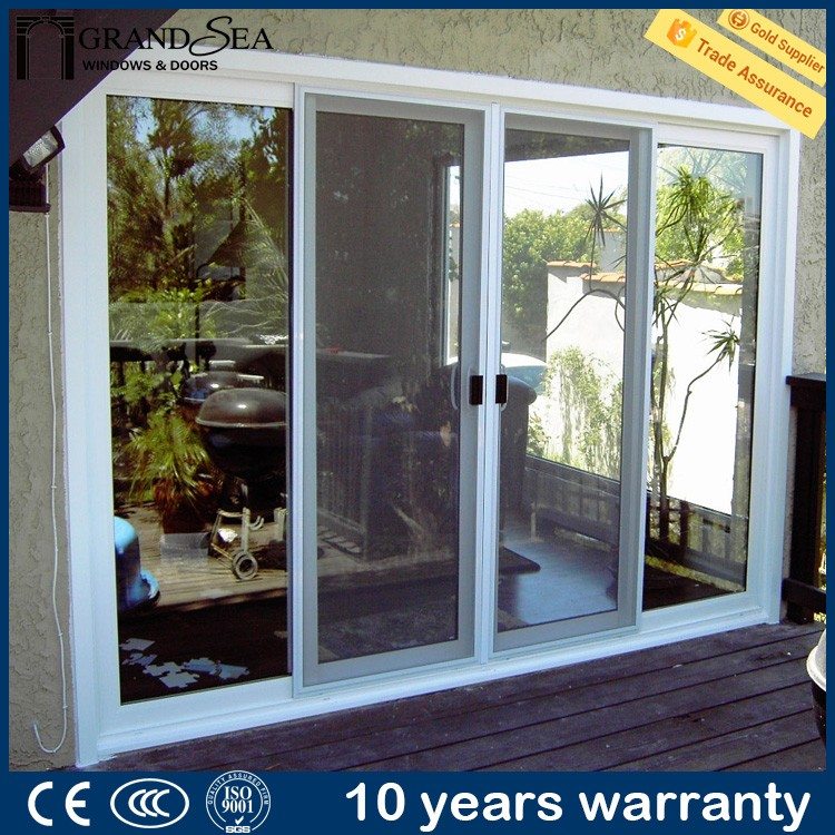 Guangzhou producer bullet proof security bulletproof glass door and window system with fly screen