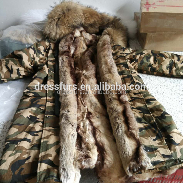 Design your own woodland camouflage winter military jacket men parka
