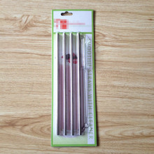 "Dia 6mm L 8.5"" Stainless Steel Drinking Straw 4 with 1 brush packed in new design blister card"