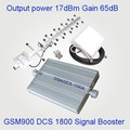 Hot sale telecom gsm 900/1800 cell phone signal booster repeater 2g 3g 4g