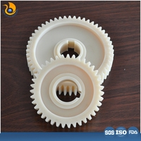 Hot sale colorful small straight tooth gear injection plastic modling type pom spur plastic pinion gear
