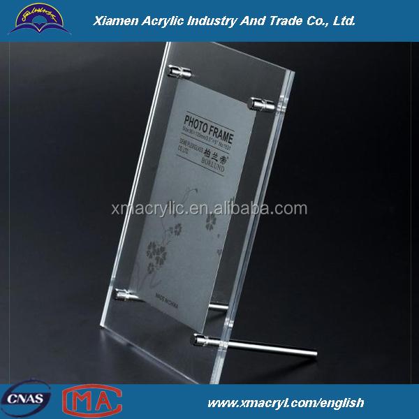 light transmitting acrylic photo frame paper holder show board