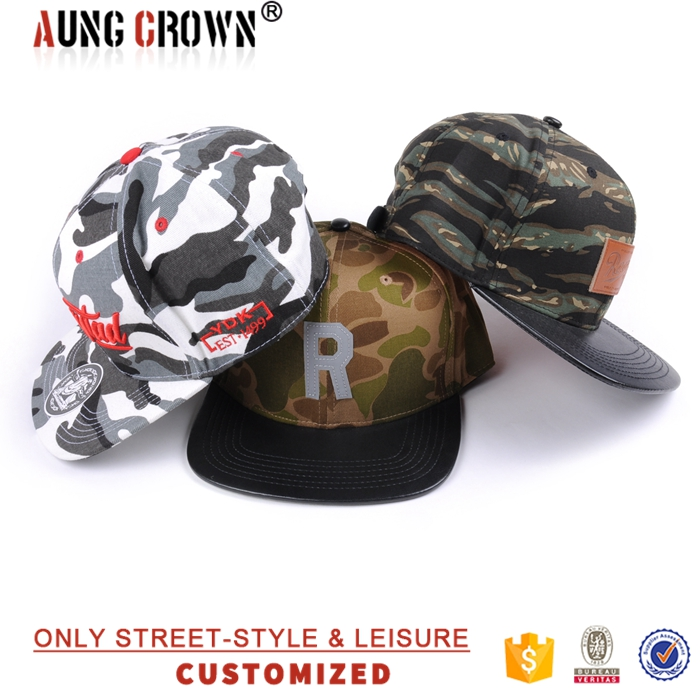 newest fashion camouflage military snap back cap