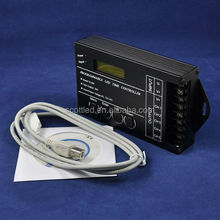 Programmable TC420 LED Time Controller;DC5~24V input;USB wires; CD-Rom with software and instruction inside;5channels