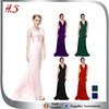 Sexy deep V-neck satin evening gown Turkish evening dresses in Turkey