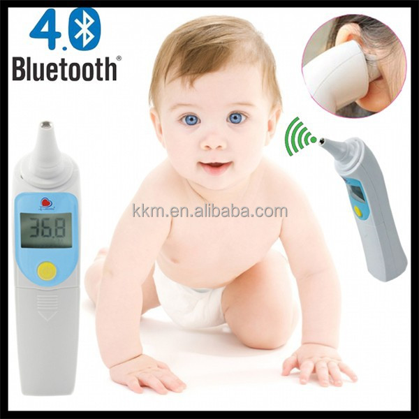 Baby infrared thermometer with wireless bluetooth 4.0 can connect mobile phone App, digital smart thermometer