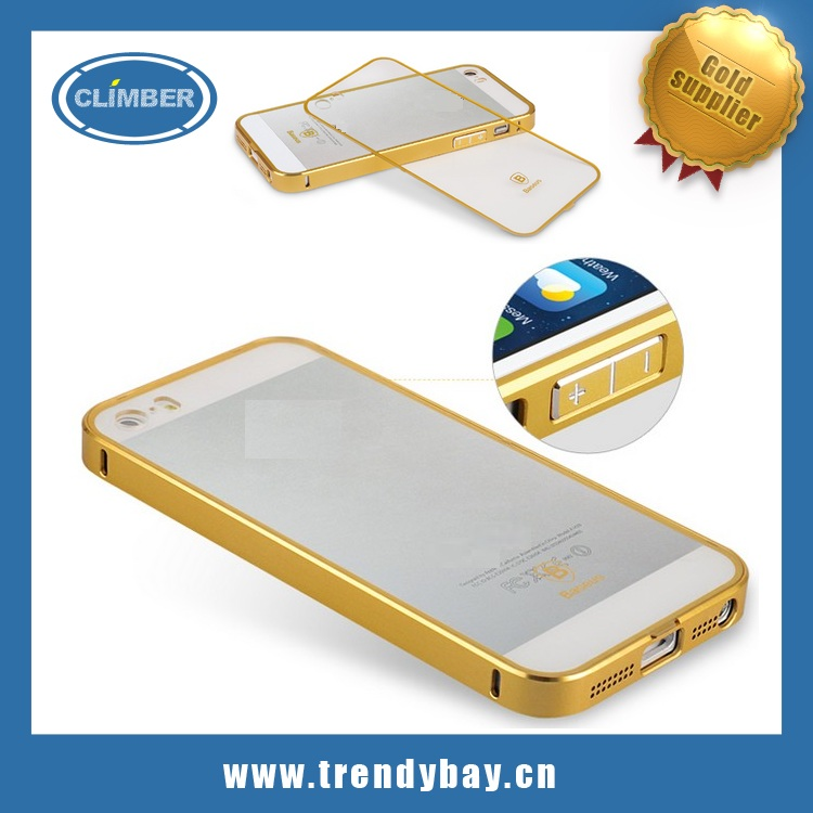 Baseus brand frame colorful golden series aluminum metal frame bumper case for iphone5 5s