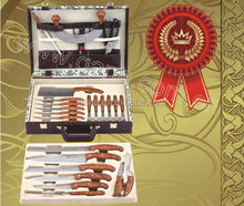 25pcs knife set with leather case/Promotional Knife
