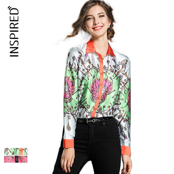 Fashion casual t shirt printing long sleeves tops for lady