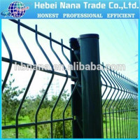 alibaba express Green coated welded metal fencing panels / Green powder bending garden fencing