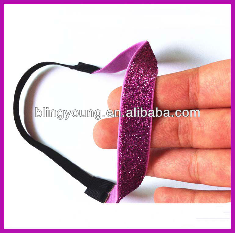 Fashion glitter hair tie band for tie hair BY-842