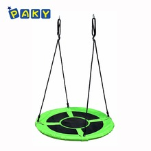 Children's Round Swing Bed 40 inch Nest Swing for Playground Includes Tree Swing Hanging Kit