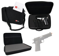 Pistol Storage Case with Fully-Customizable & Shock-Absorbing