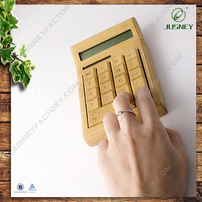 Office necessary tool High Quality Calculator bamboo wood Calculator