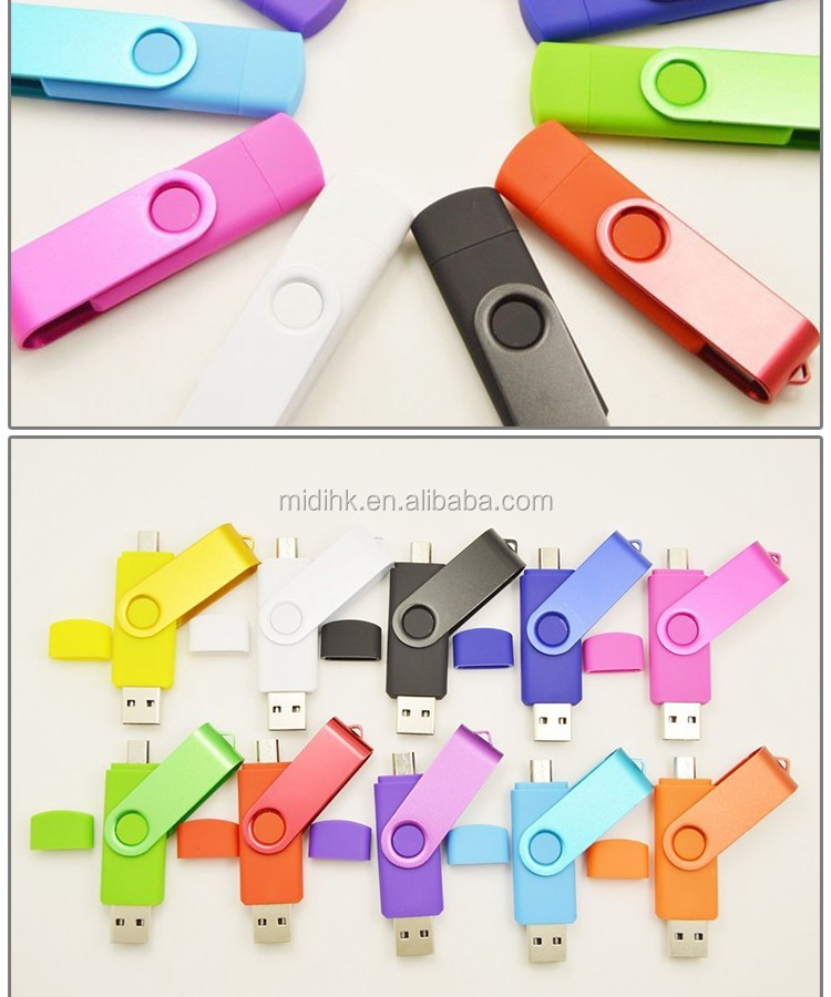 USB Flash Drive, OTG 8GB USB Memory Stick for Android Phone 2in1 Pendrive