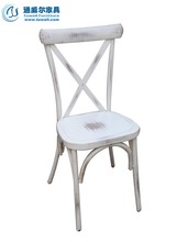 TW8022 Stackable Metal X Cross Back Commericial Chairs