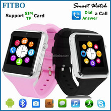 Q8 watch phone For Iphone 6/Samsung S4 S6 Smartphone, 1.3M Camera + SIM
