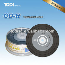 Guangzhou blank 800mb cd-r with 52x running speed and 80min in shrink wrap packing