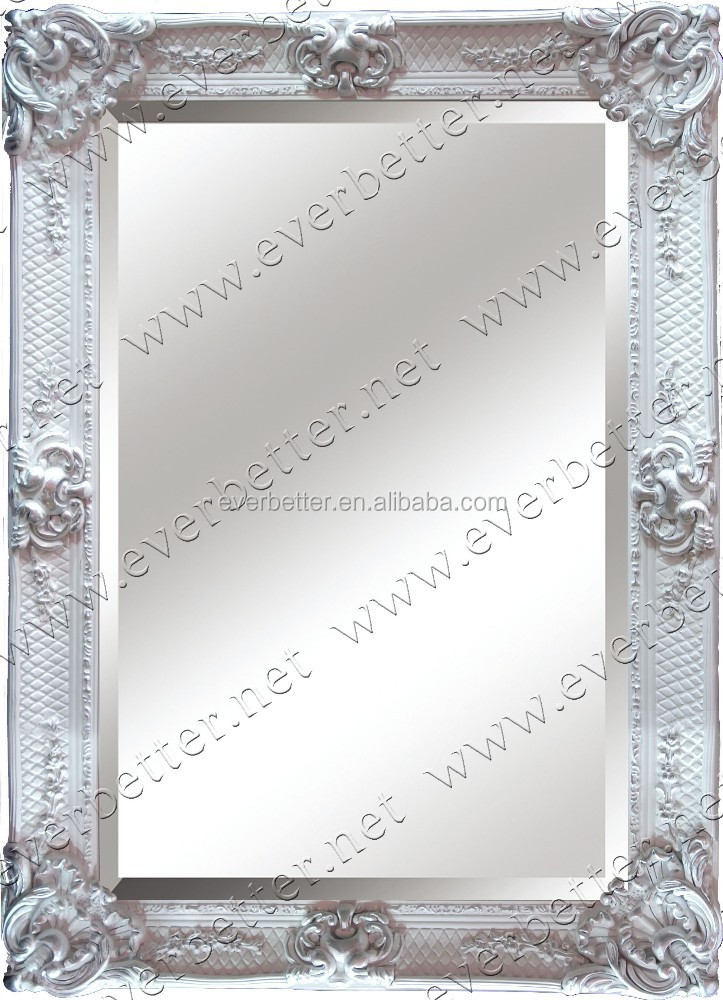 Antique designed cheap hot-sale modern resin flower decorative carved wooden mirror