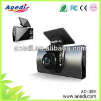 car video dvr recorder with night vision, gps motion activated car dvr with front and rear dual cam