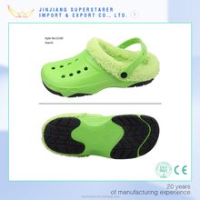 winter style eva clogs with rubber soles, anti-slip eva clog with rubber outsole