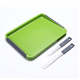 Double-side colored pe Plastic thick chopping board set with hidden kitchen knives