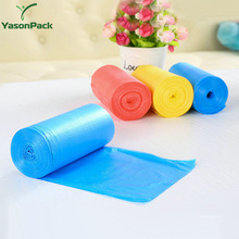 Colored durable organic plastic biodegradable custom printed kitchen trash bag on roll