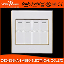 Best selling electric 4 gang 2 way wall switch for home