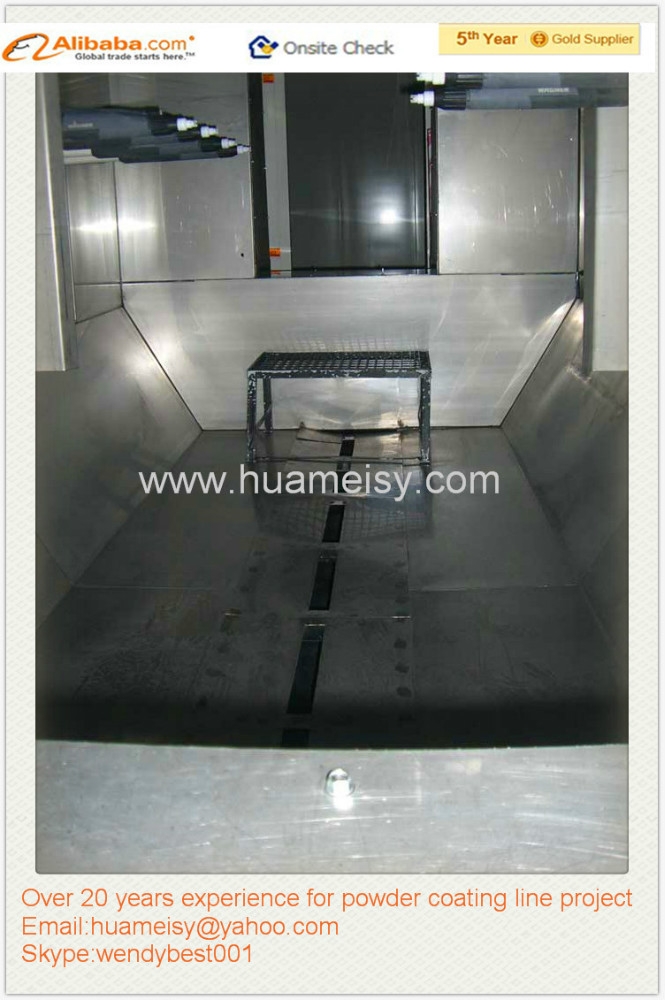 stainless steel powder spray booth from China manufacturer