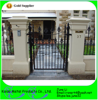 Powder-coated Wrought iron gates for sale