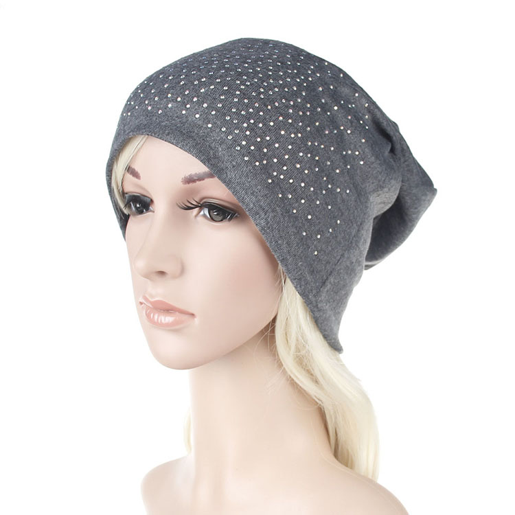 Hot Drilling Winter Outdoor Sports Cotton Lady Hat