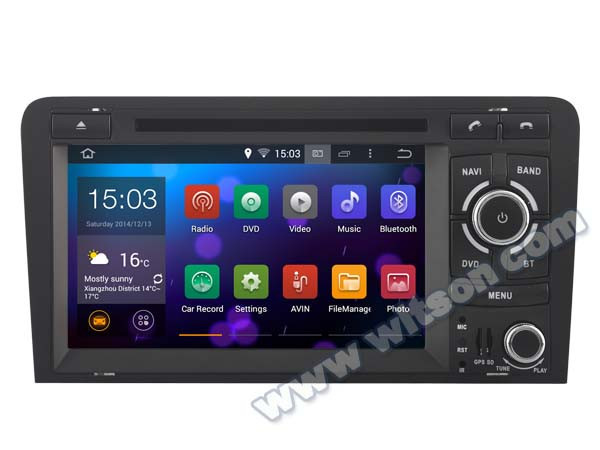 WITSON Android 4.4 FOR AUDI A3 CAR RADIO NAVIGATION 2003-2012 8GB Inand CAPACTIVE Screen WiFi 3G GPS