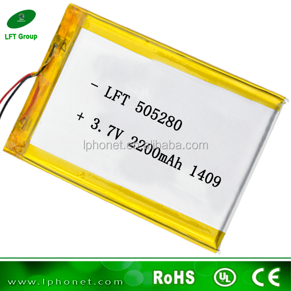 505280 china wholesale cell lipo 3.7v 2200mah battery for power tools