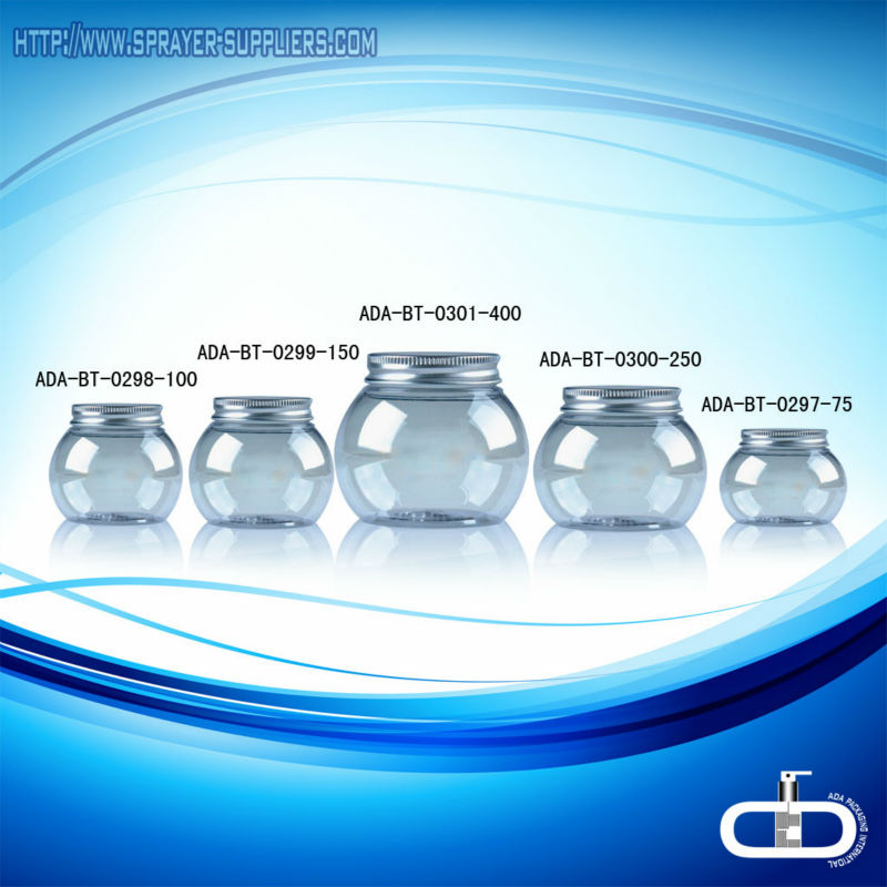 ADA-PE-455 empty cosmetic jars/plastic vessel/cosmetic container