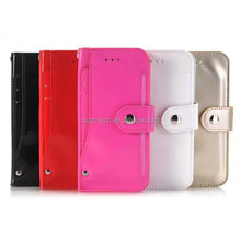 High Quality PU Leather Case For Iphone7 , Luxury Flip Wallet Leather Card Holder Leather Back Cover