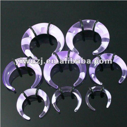 light purple marble buffalo Spiral body piercing ear tapers kits