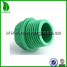 PPR pipe fittings Secure and durable green screw end plug
