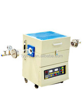Small Laboratory Horizontal Quartz Tube Vacuum Furnace up to 1200 Celsius with High Temperature accuracy