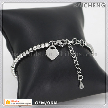 Smooth heart charm without any decoration Cheap custom bracelet Charms for bracelet making