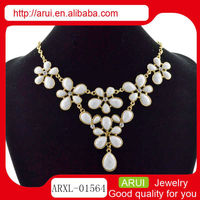 2013 White wedding pearl jewelry fashion necklace