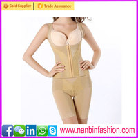 lady full body shapewear hooks bustier waist trimmer corset
