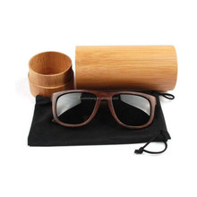 Wholesale Vintage Handmade Men Women Bamboo Wooden Sunglasses Box Frame Glasses Case