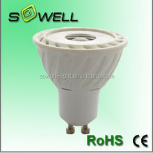 5w 220-240V 50*H57mm COB gu10 Aluminum+plastic LED spot lighting