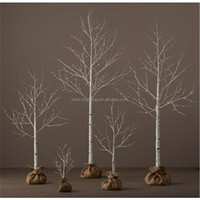 Artificial small twig branches outside/inside Christmas event decoration led tree light