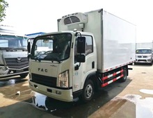 Frozen meat transport FAC 4x2 6 wheels meat refrigerated box truck freezer truck with low price for hot sale
